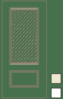 Custom Fiberglass Door 3/4 Light